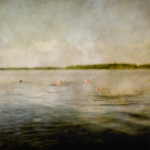 Impressionistic summer scene by a lake. Volume 47