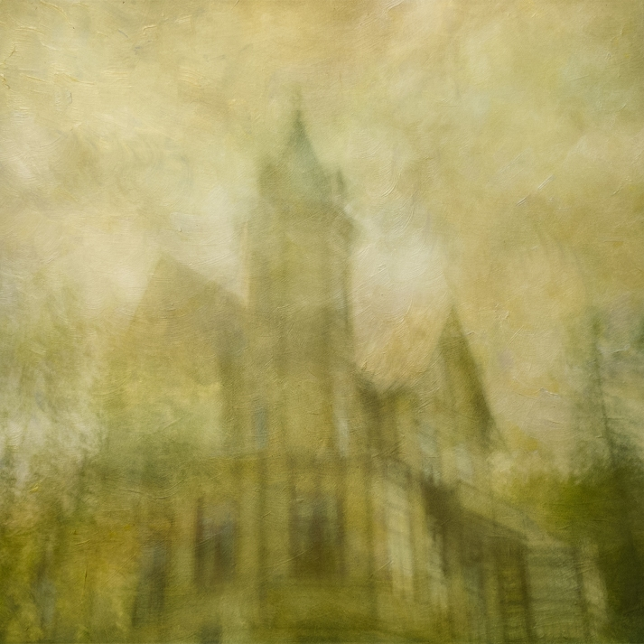 Impressionistic spring scene .Single intentional camera movement exposure and texture layers. Volume 30 in this series.