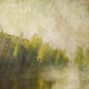 Impressionistic spring scene .Single intentional camera movement exposure and texture layers. Volume 31 in this series.