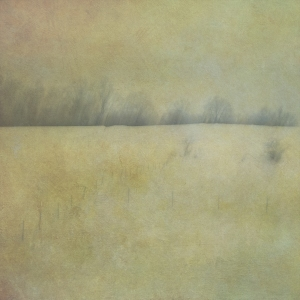 Impressionist rural scene. Single intentional camera movement exposure and texture layers.