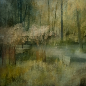 Impressionistic spring scene .Single intentional camera movement exposure and texture layers. Volume 28 in this series.