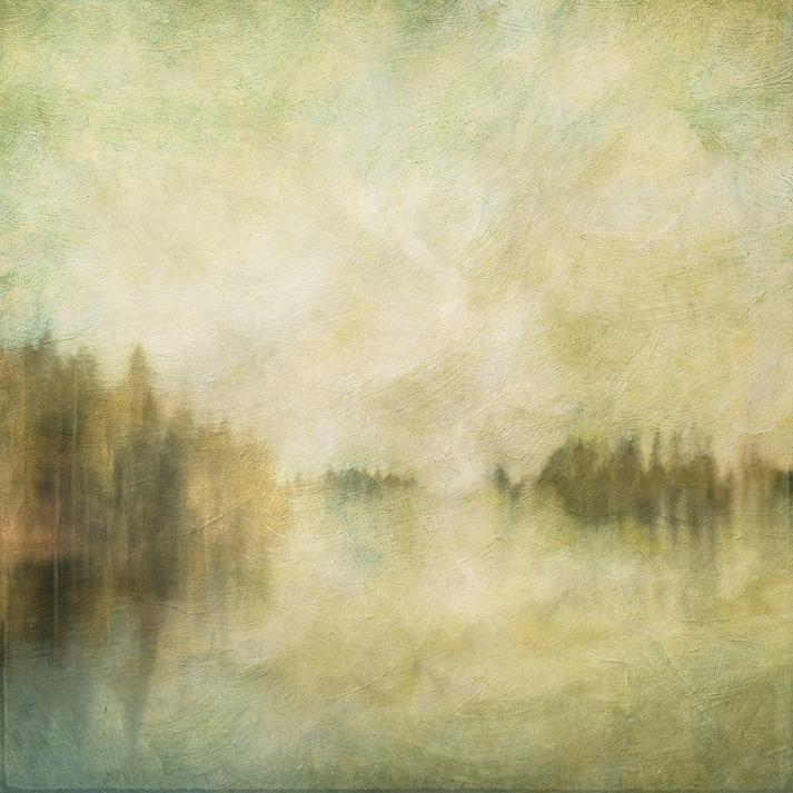Impressionistic spring scene . Single intentional camera movement exposure and texture layers. Volume 26 in this series.