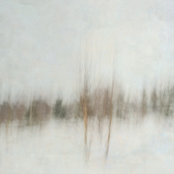Impressionistic winter scene . Single intentional camera movement exposure and texture layers. Volume 26 in this series.