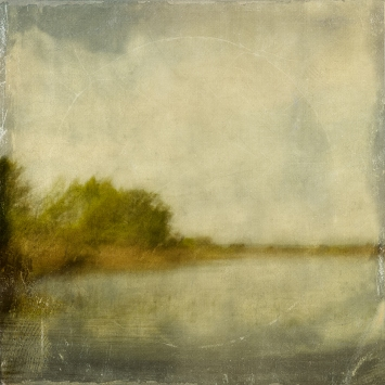 Impressionist scene by a lake