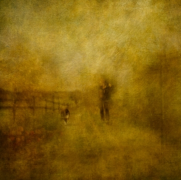 Impressionist scene, woman with dog. Volume 69 in this series