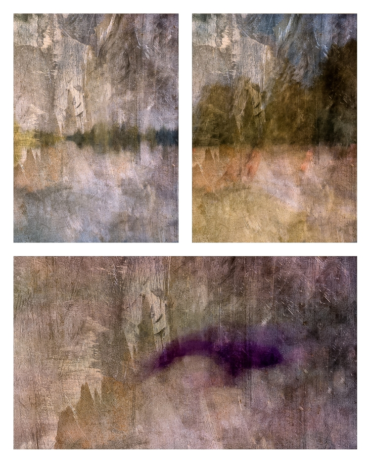 Impressionist abstract rural scenes.