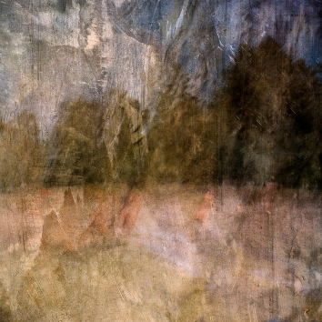 Impressionist abstract rural scene of cattle in a summer meadow. Volume 3 in this series
