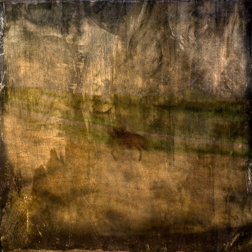Impressionist abstract rural scene of a horse and rider in a field. Volume 9 in this series