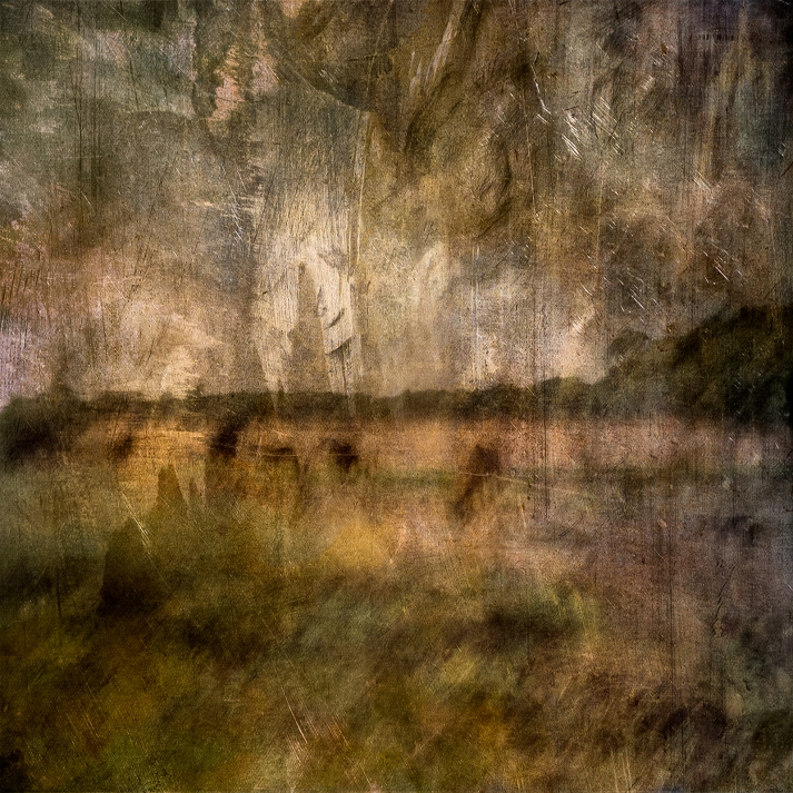 Impressionist abstract rural scene of horses in a meadow. Volume 12 in this series