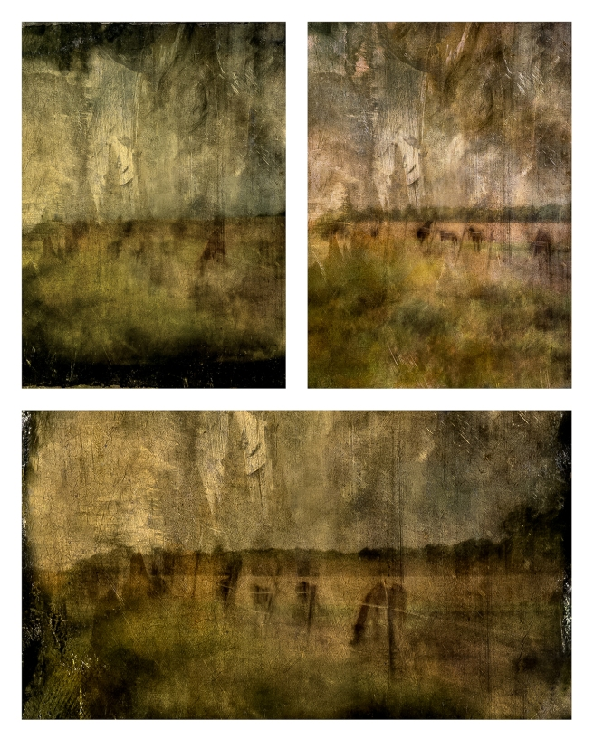 Impressionist abstract rural scene